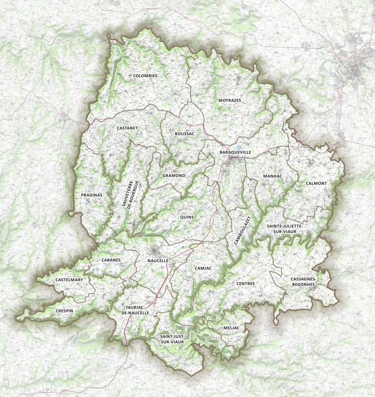 Carte IGN du Pays Ségali