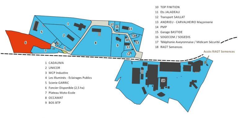 ZA Molinières Plan